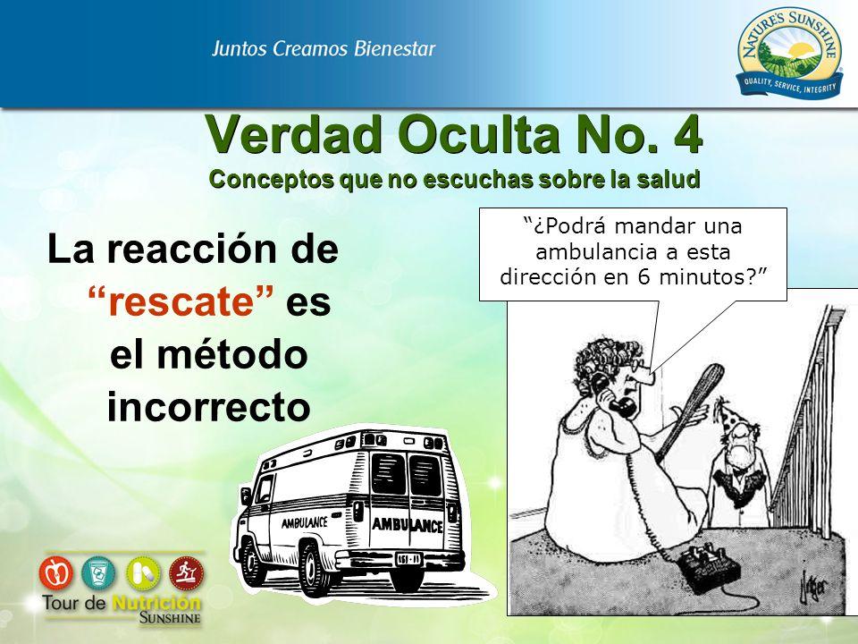 Verdad Oculta No. 4 Conceptos que no escuchas sobre la salud La reacción de rescate es el método incorrecto ¿Podrá mandar una ambulancia a esta direcc
