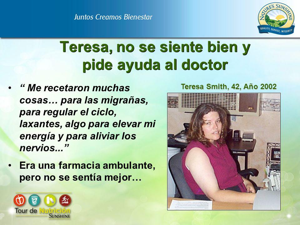Teresa, no se siente bien y pide ayuda al doctor Me recetaron muchas cosas… para las migrañas, para regular el ciclo, laxantes, algo para elevar mi en