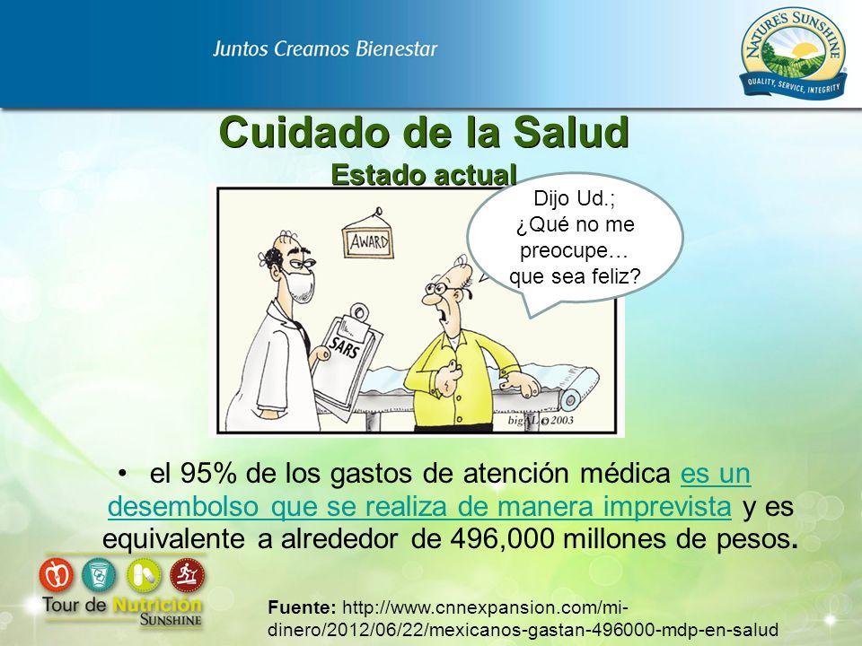 el 95% de los gastos de atención médica es un desembolso que se realiza de manera imprevista y es equivalente a alrededor de 496,000 millones de pesos