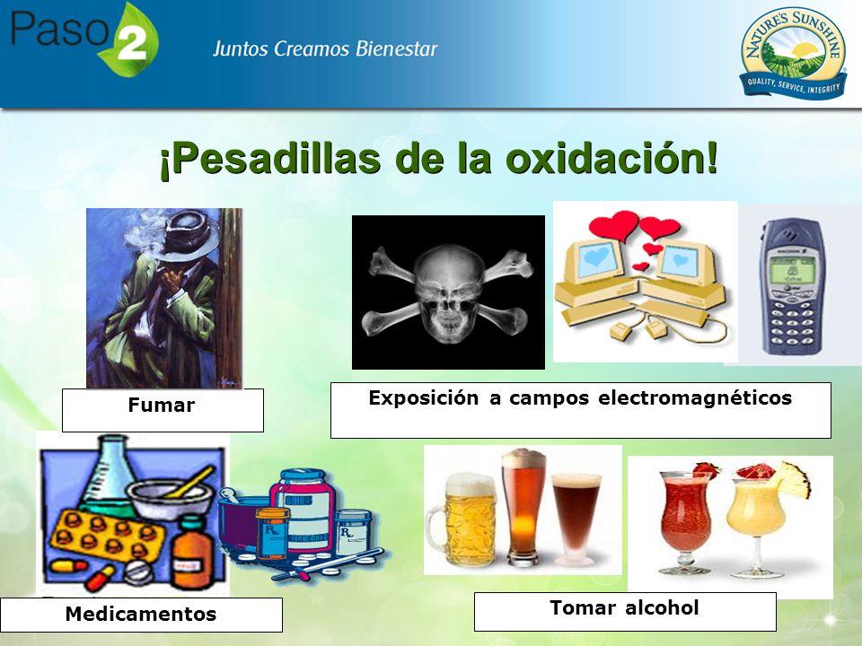 Medicamentos Exposición a campos electromagnéticos Tomar alcohol Fumar ¡Pesadillas de la oxidación!