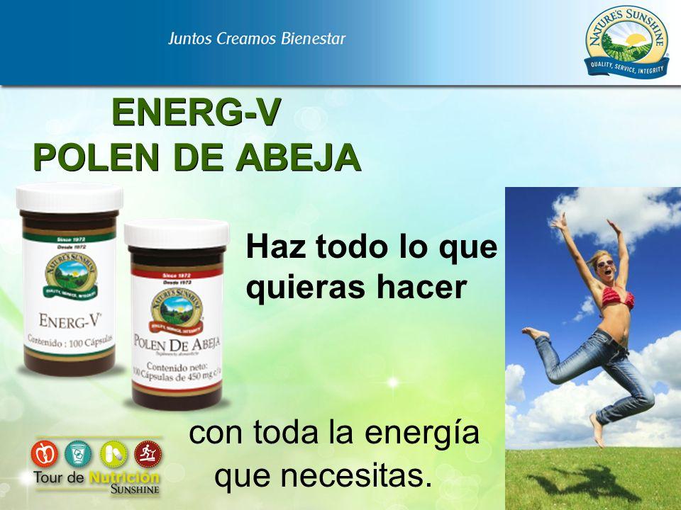 ENERG-V POLEN DE ABEJA con toda la energía que necesitas. Haz todo lo que quieras hacer