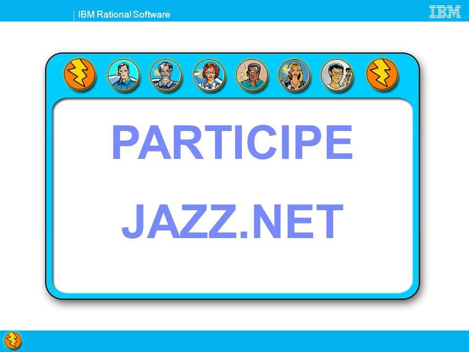 IBM Rational Software PARTICIPE JAZZ.NET