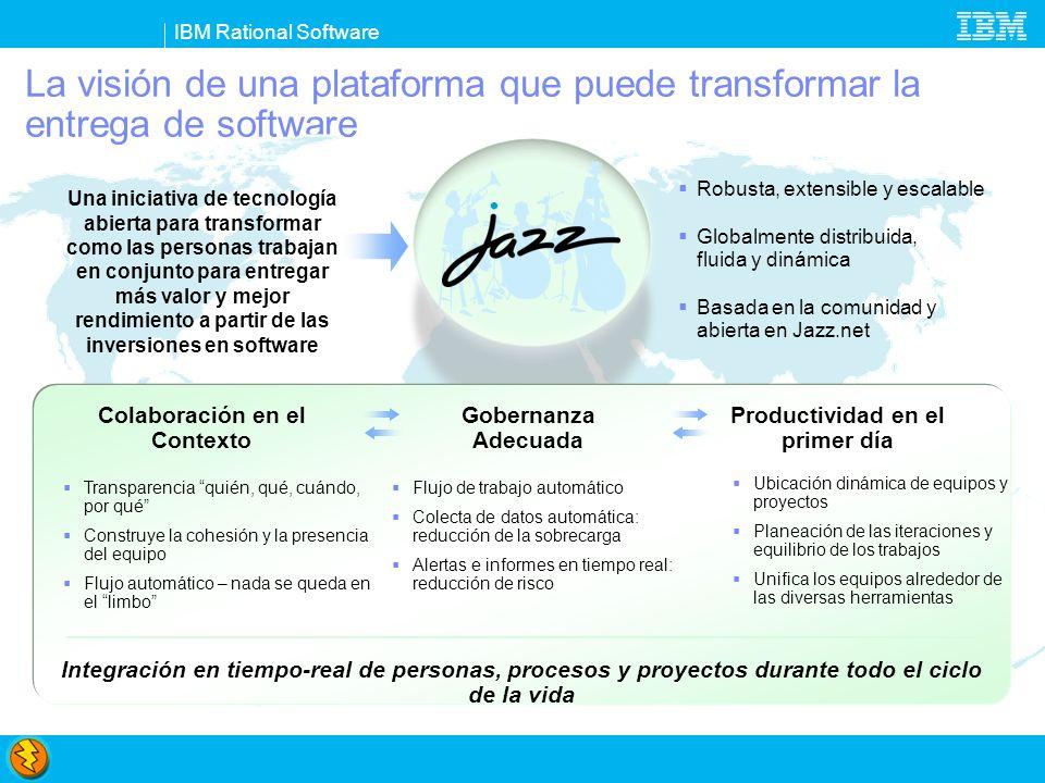 IBM Rational Software De las palabras a las acciones...