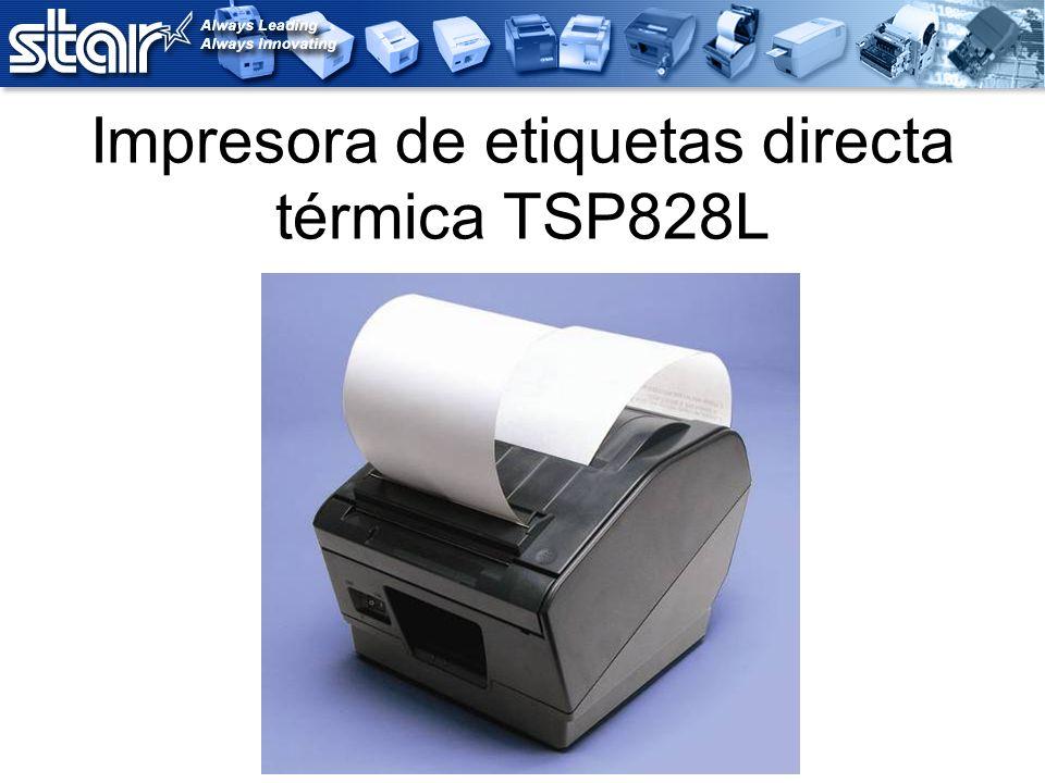 Impresora de etiquetas directa térmica TSP828L