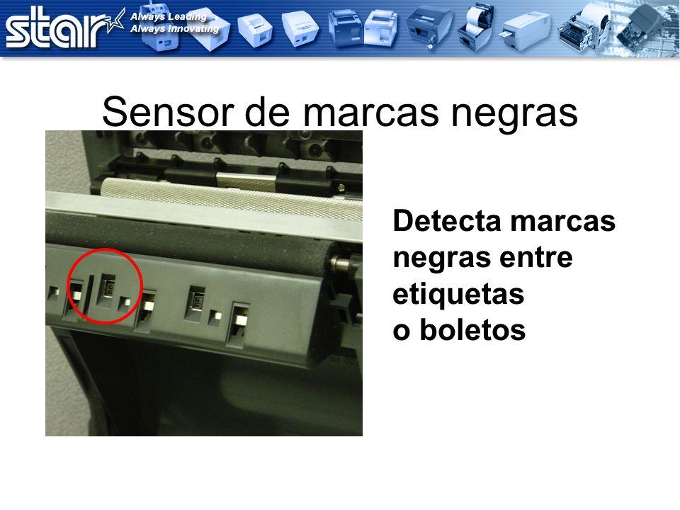Sensor de marcas negras Detecta marcas negras entre etiquetas o boletos