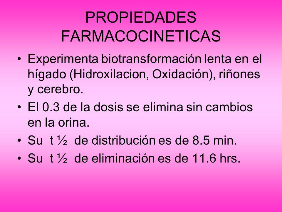 INDICACIONES ~Para la inducción de la anestesia (abolición rápida de la conciencia).