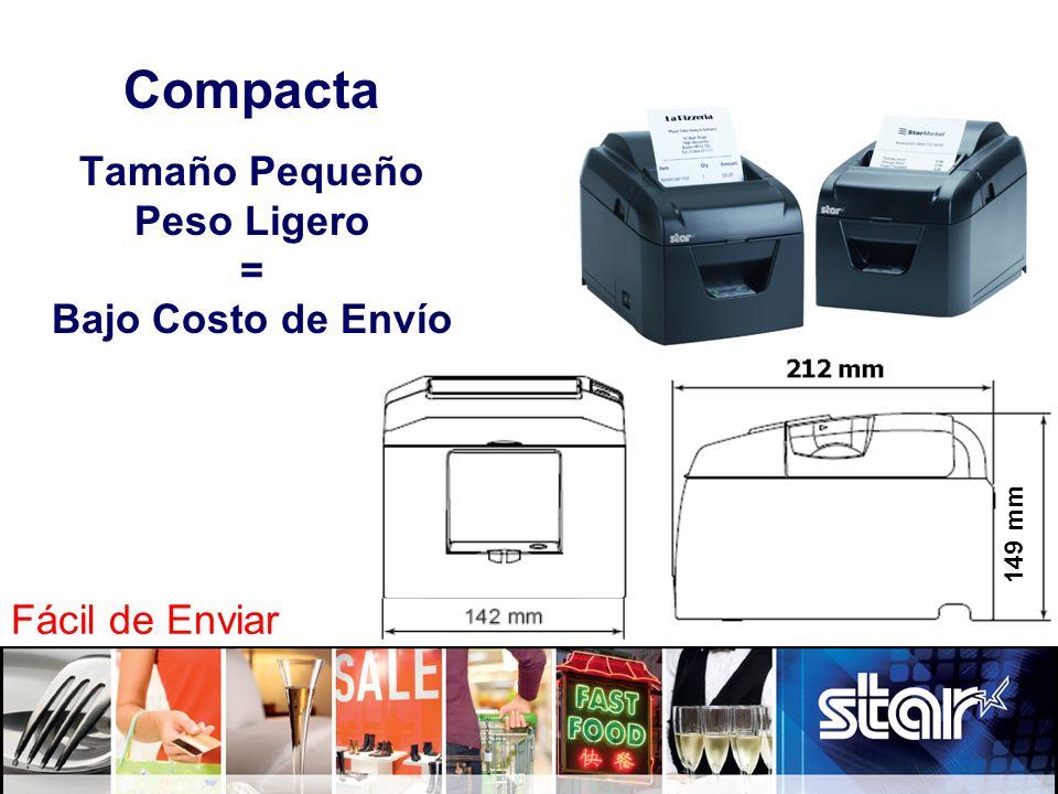Compacta Tamaño Pequeño Peso Ligero = Bajo Costo de Envío 149 mm Fácil de Enviar