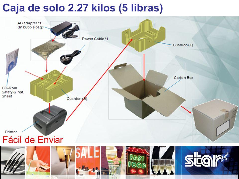 Caja de solo 2.27 kilos (5 libras) Fácil de Enviar