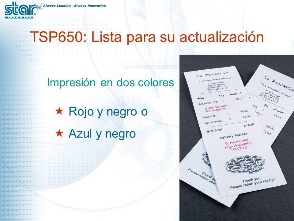 TSP650: Cabe Tamaño compacto