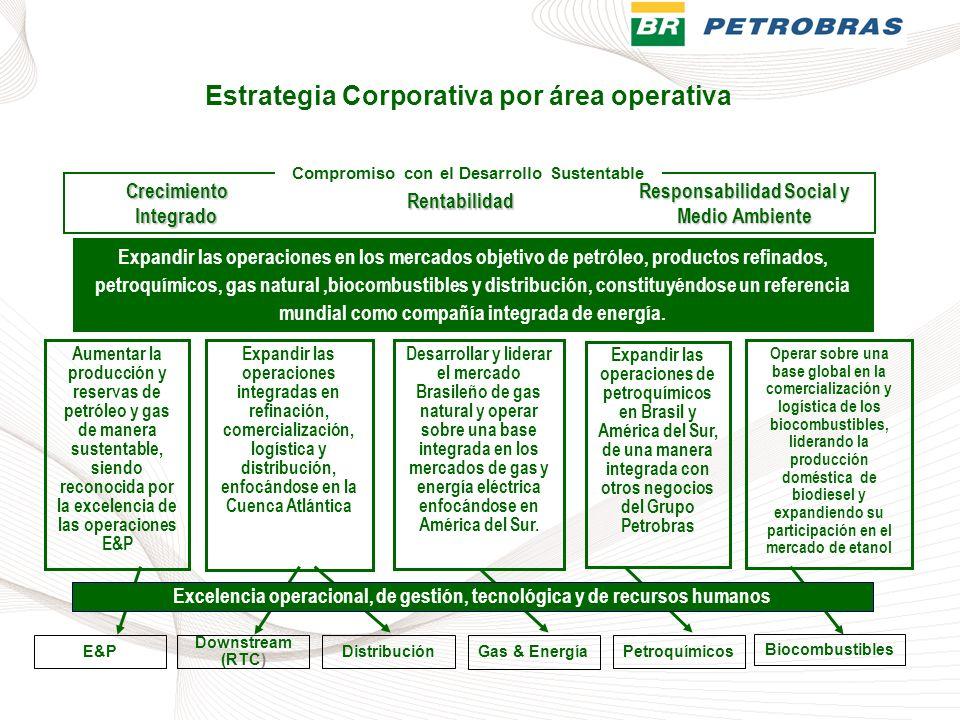 Rentabilidad Aumentar la producción y reservas de petróleo y gas de manera sustentable, siendo reconocida por la excelencia de las operaciones E&P Exp