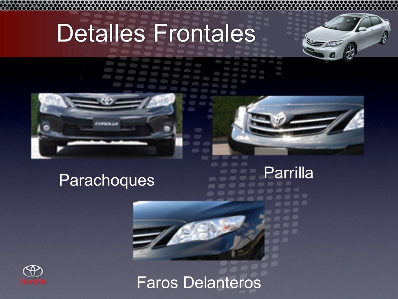 Detalles Frontales Parachoques Parrilla Faros Delanteros