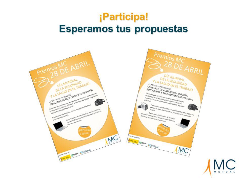 ¡Participa! Esperamos tus propuestas