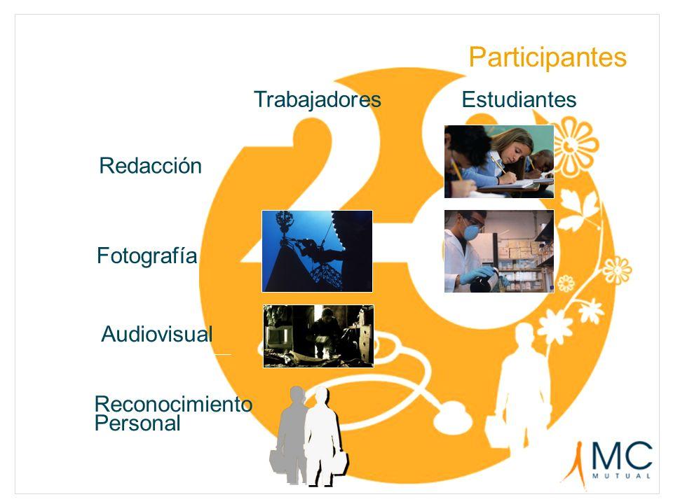 Participantes Audiovisual Fotografía Redacción Estudiantes Trabajadores Reconocimiento Personal