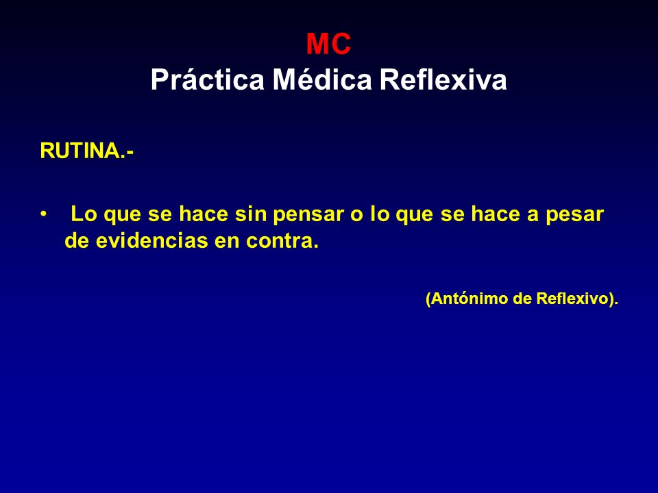 MC INTRODUCCIÓN Los pacientes, los hospitales, las sociedades médicas, están modificando las expectativas y los estándares de calidad a que se sujeta el médico.