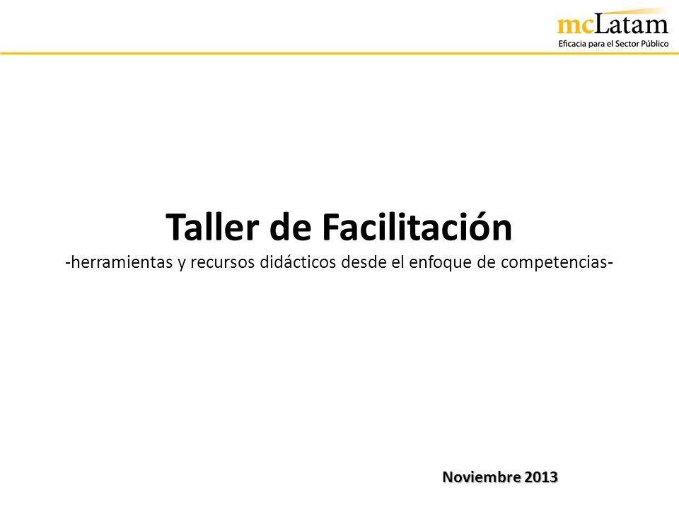 Taller de Facilitación -herramientas y recursos didácticos desde el enfoque de competencias- Noviembre 2013