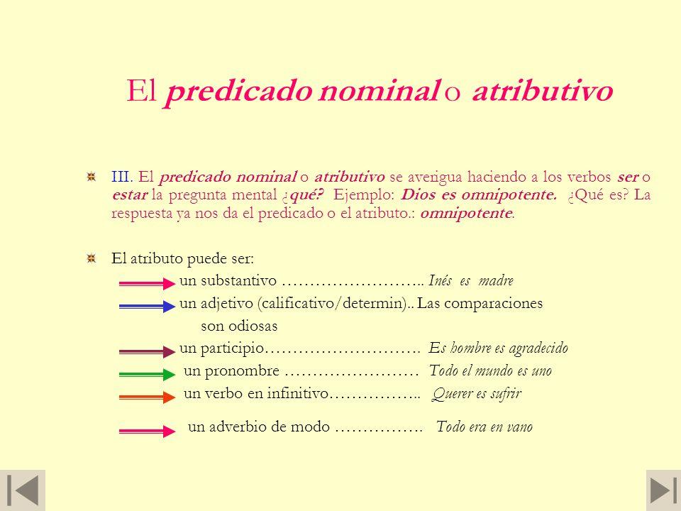 Más ejemplos Otros casos en los que el verbo no concierta con el sujeto, sino con el predicado nominal, son, por ejemplo: Los agresores era gente aven