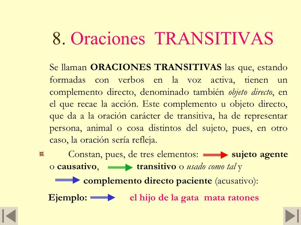 Otros rasgos de ser y estar 7. Los verbos ser y estar forman, igualmente, oraciones intransitivas, pues para que sean copulativos es preciso que lleve