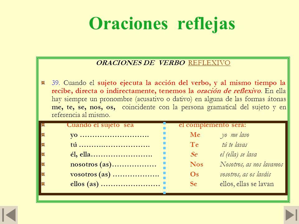 Oración intransitiva (continuación) Cuando las oraciones están construidas con verbo transitivo, se las puede llamar segundas de activa. Los verbos in