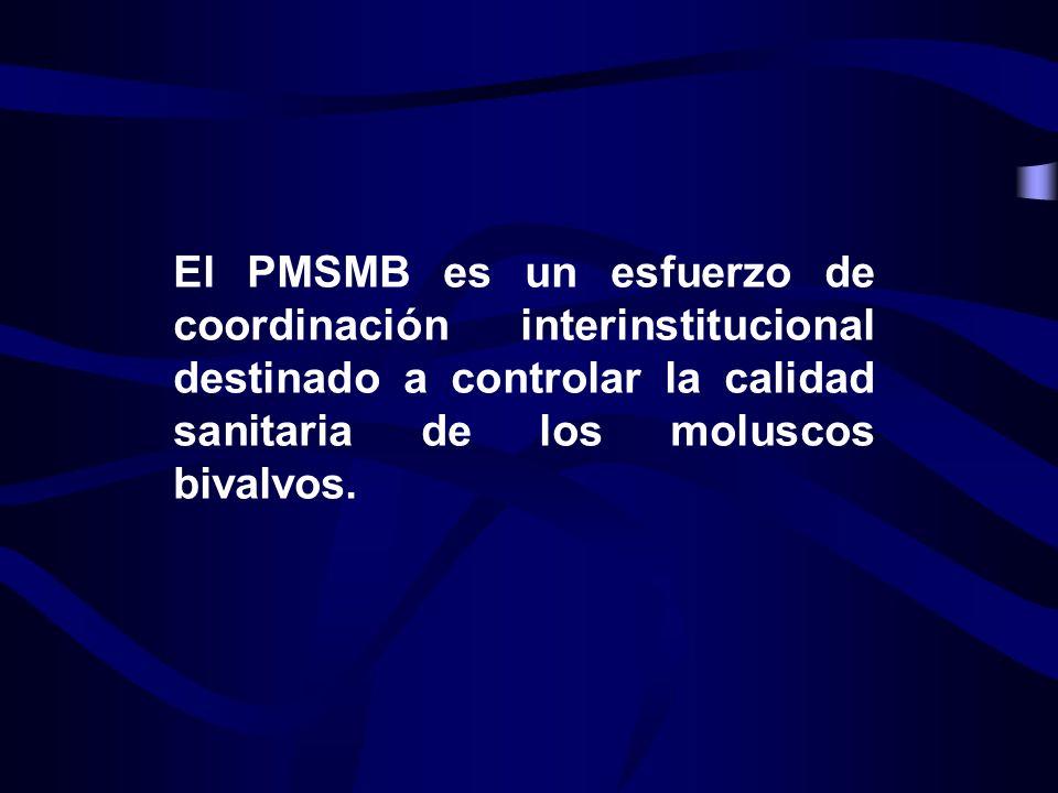 El PMSMB es un esfuerzo de coordinación interinstitucional destinado a controlar la calidad sanitaria de los moluscos bivalvos.