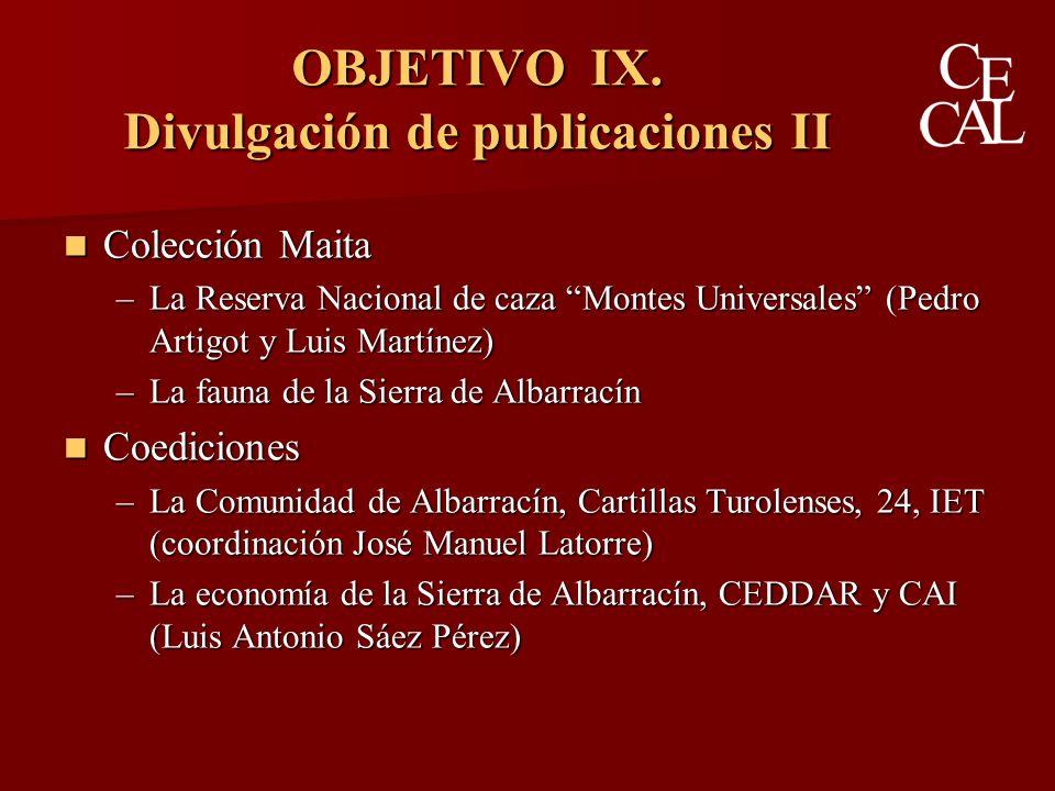 OBJETIVO IX.
