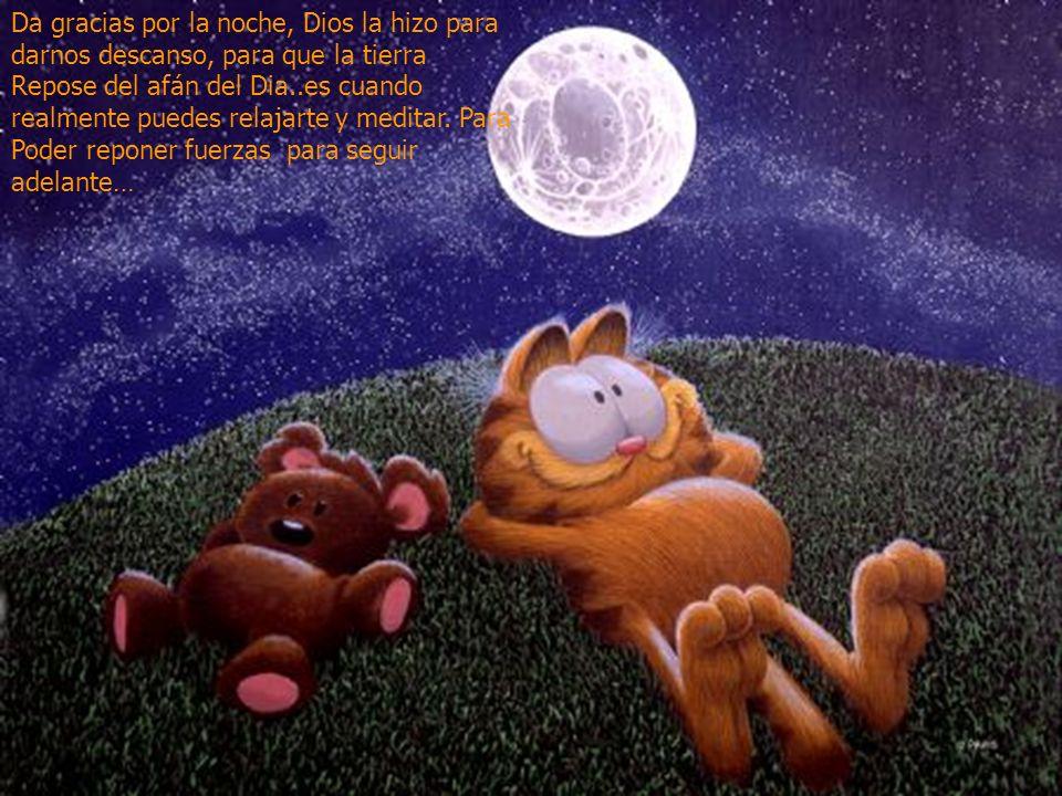 www.iasdsanjudas.com Da gracias por la noche, Dios la hizo para darnos descanso, para que la tierra Repose del afán del Dia..es cuando realmente puede