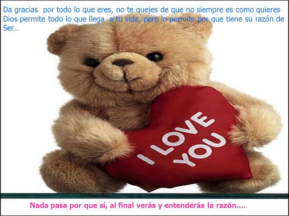 www.iasdsanjudas.com Da gracias por todo lo que eres, no te quejes de que no siempre es como quieres Dios permite todo lo que llega a tu vida, pero lo