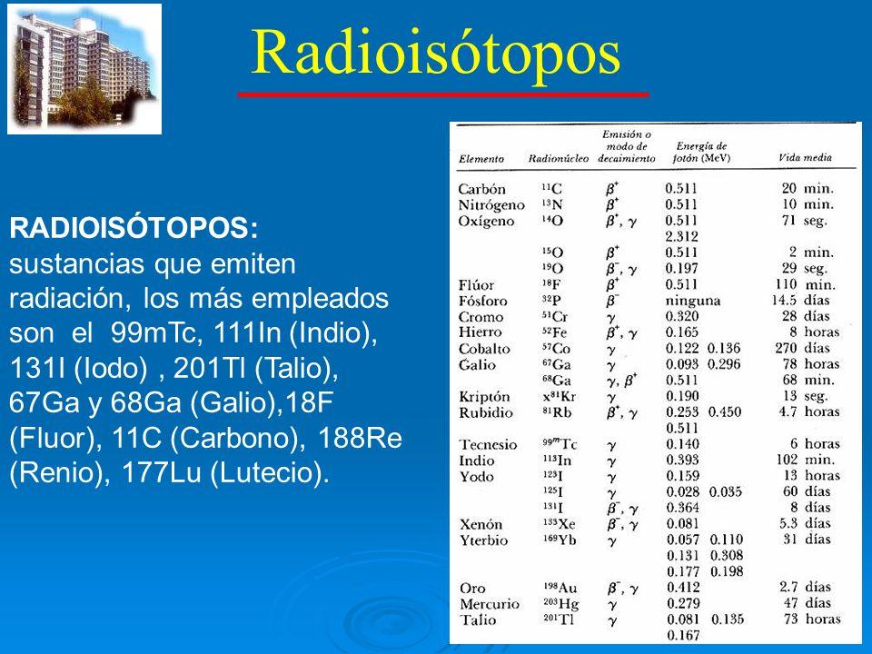Radiotrazadores RADIOFARMACOS O RADIOTRAZADORES: cuando se adicionan sustancias (fármacos) a los radioisotopos.