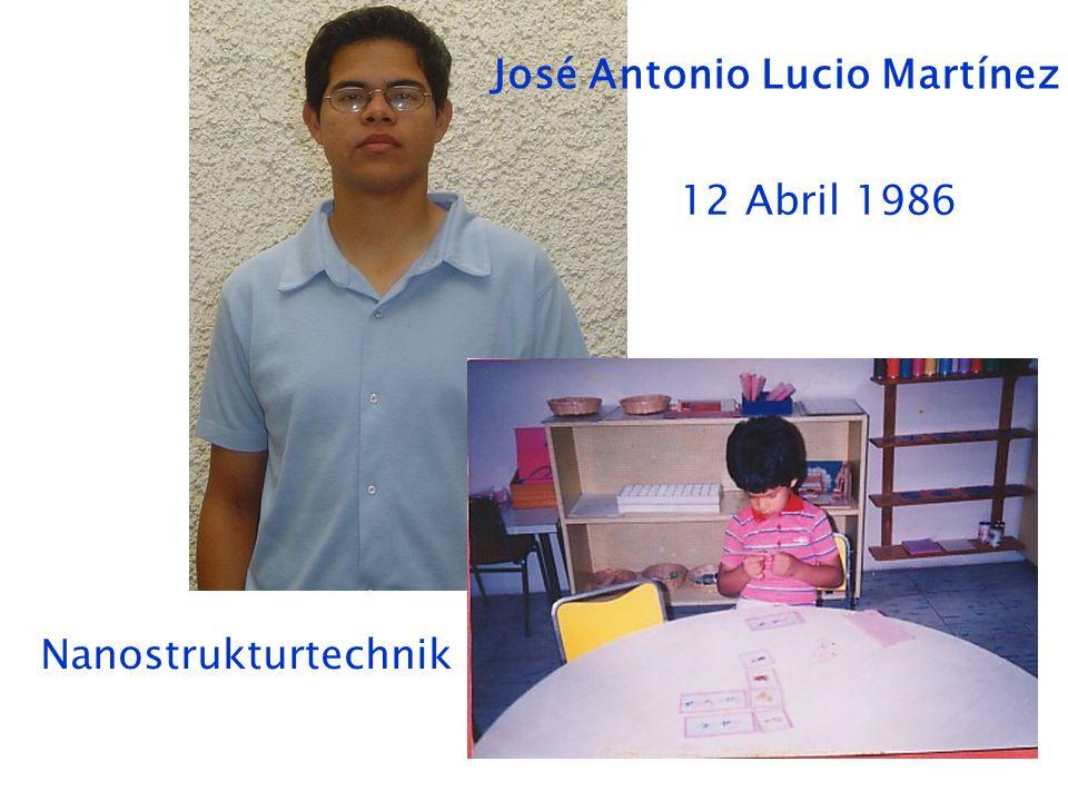 José Antonio Lucio Martínez 12 Abril 1986 Nanostrukturtechnik
