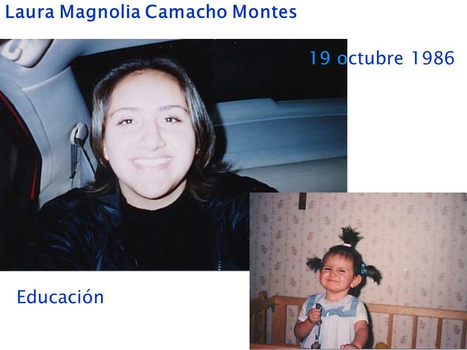 Laura Magnolia Camacho Montes 19 octubre 1986 Educación