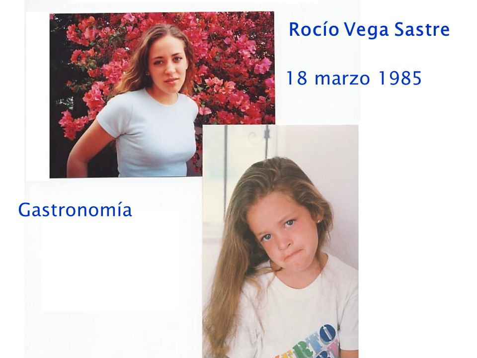 Rocío Vega Sastre 18 marzo 1985 Gastronomía