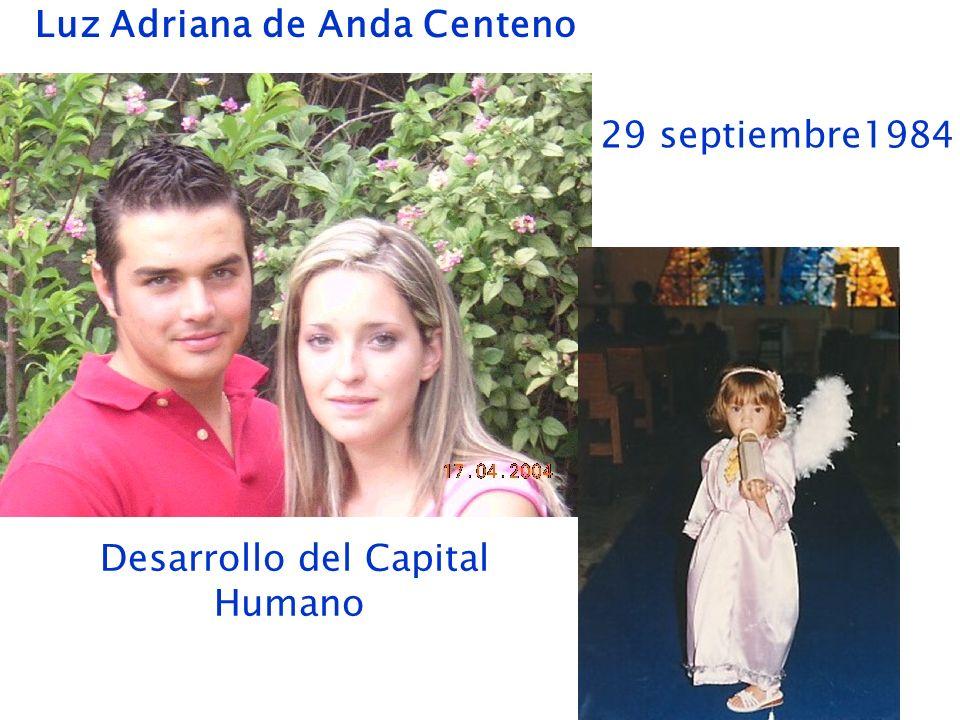 Luz Adriana de Anda Centeno 29 septiembre1984 Desarrollo del Capital Humano