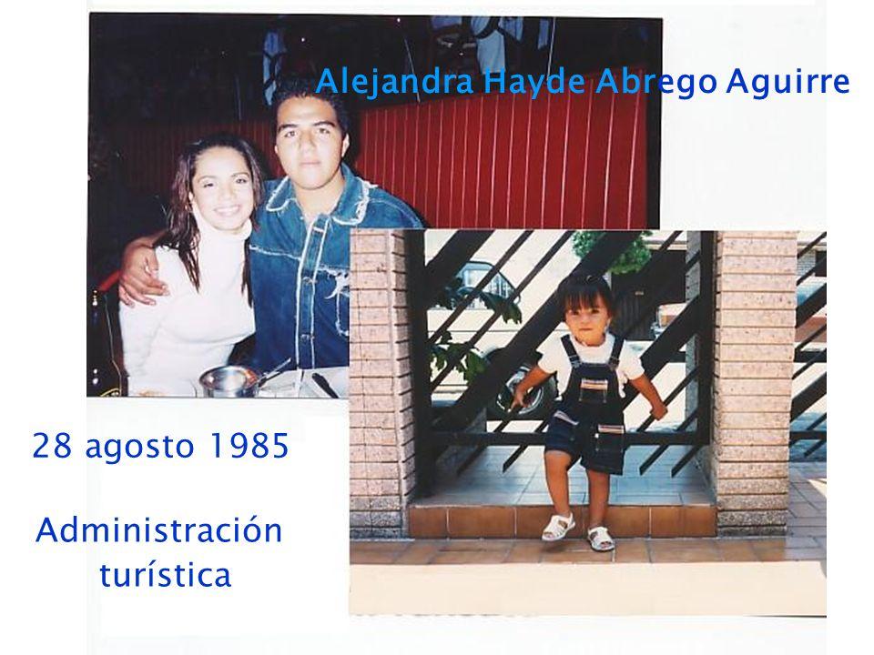 Alejandra Hayde Abrego Aguirre 28 agosto 1985 Administración turística