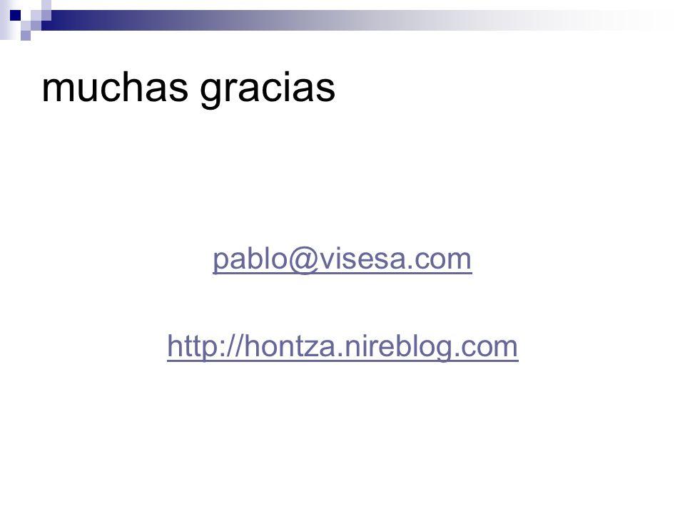 muchas gracias pablo@visesa.com http://hontza.nireblog.com