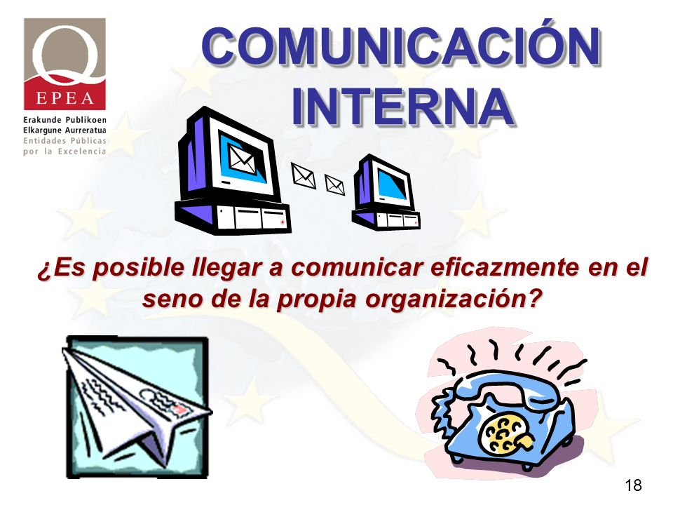 18 COMUNICACIÓN INTERNA ¿Es posible llegar a comunicar eficazmente en el seno de la propia organización