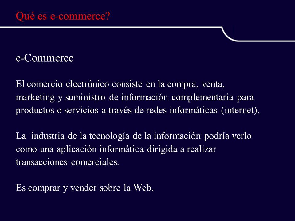 Qué es e-commerce.