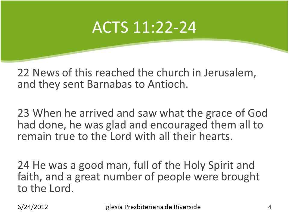 ACTS 11:25-27 25 Then Barnabas went to Tarsus to look for Saul, 26 and when he found him, he brought him to Antioch.