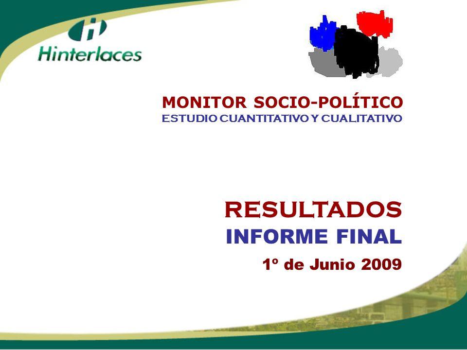 RESULTADOS INFORME FINAL 1º de Junio 2009 ESTUDIO CUANTITATIVO Y CUALITATIVO MONITOR SOCIO-POLÍTICO