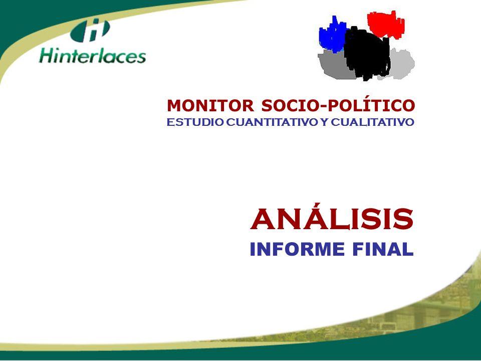 ANÁLISIS INFORME FINAL ESTUDIO CUANTITATIVO Y CUALITATIVO MONITOR SOCIO-POLÍTICO