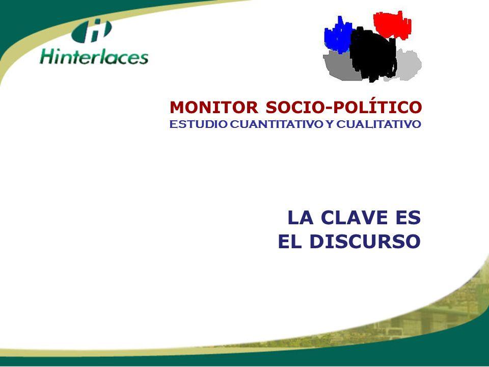 LA CLAVE ES EL DISCURSO ESTUDIO CUANTITATIVO Y CUALITATIVO MONITOR SOCIO-POLÍTICO