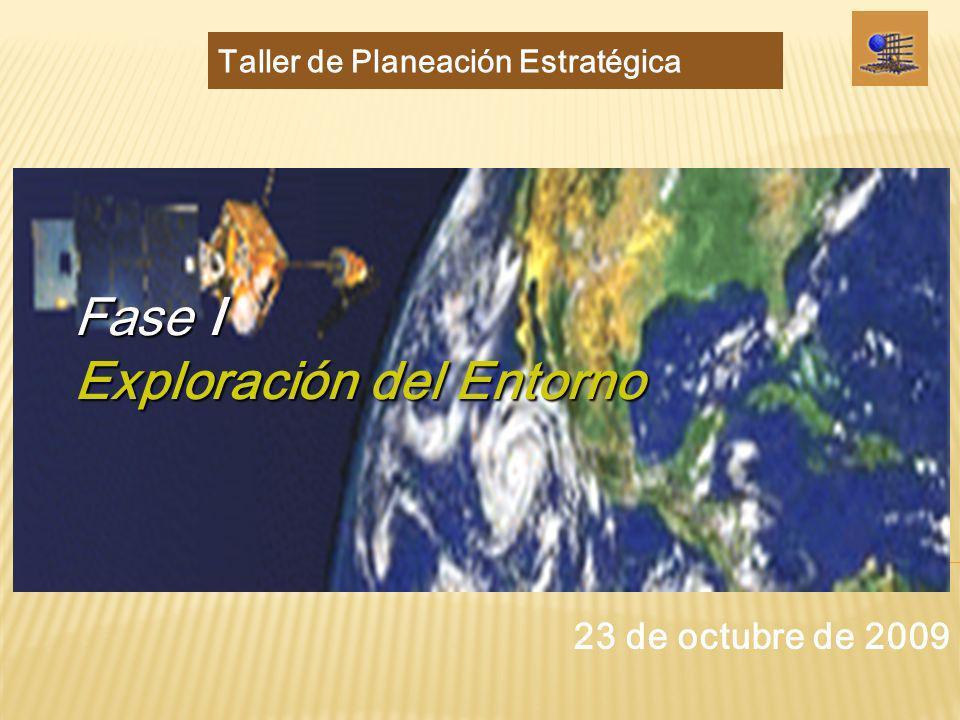 Fase I Exploración del Entorno Taller de Planeación Estratégica 23 de octubre de 2009