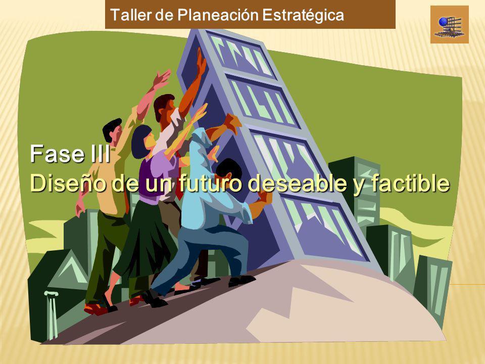 Fase III Diseño de un futuro deseable y factible Taller de Planeación Estratégica