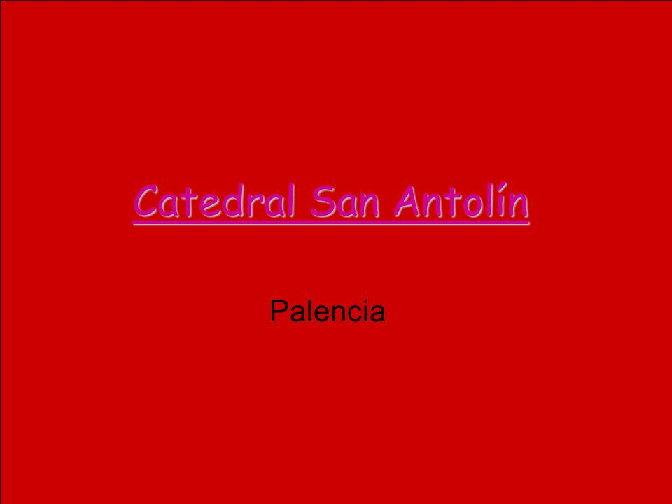 Catedral San Antolín Palencia