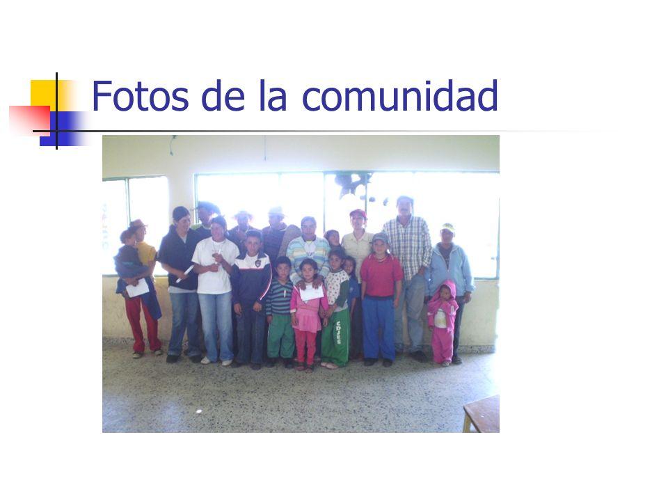 Fotos de la comunidad