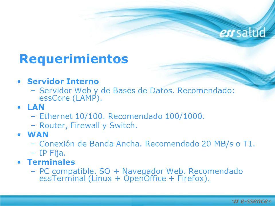 Requerimientos Servidor Interno –Servidor Web y de Bases de Datos.