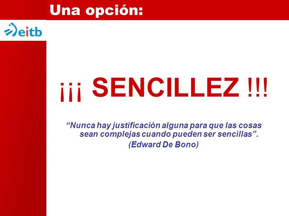 ¡¡¡ SENCILLEZ !!.