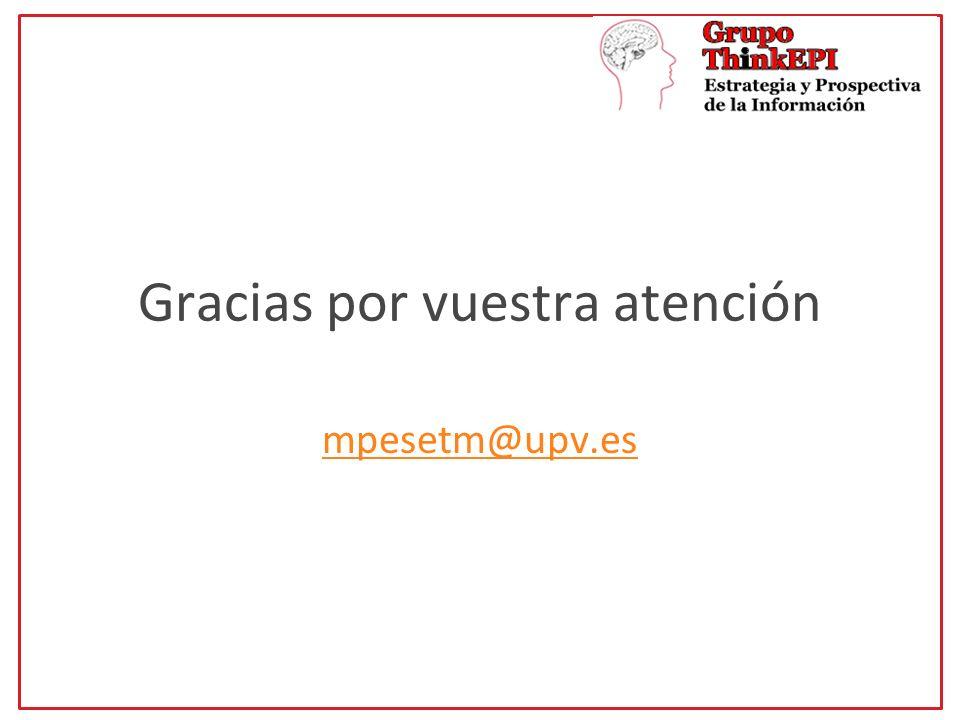 Gracias por vuestra atención mpesetm@upv.es