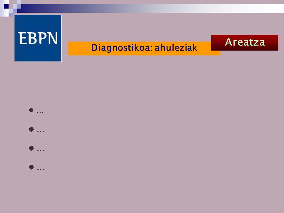 Diagnostikoa: ahuleziak Areatza …