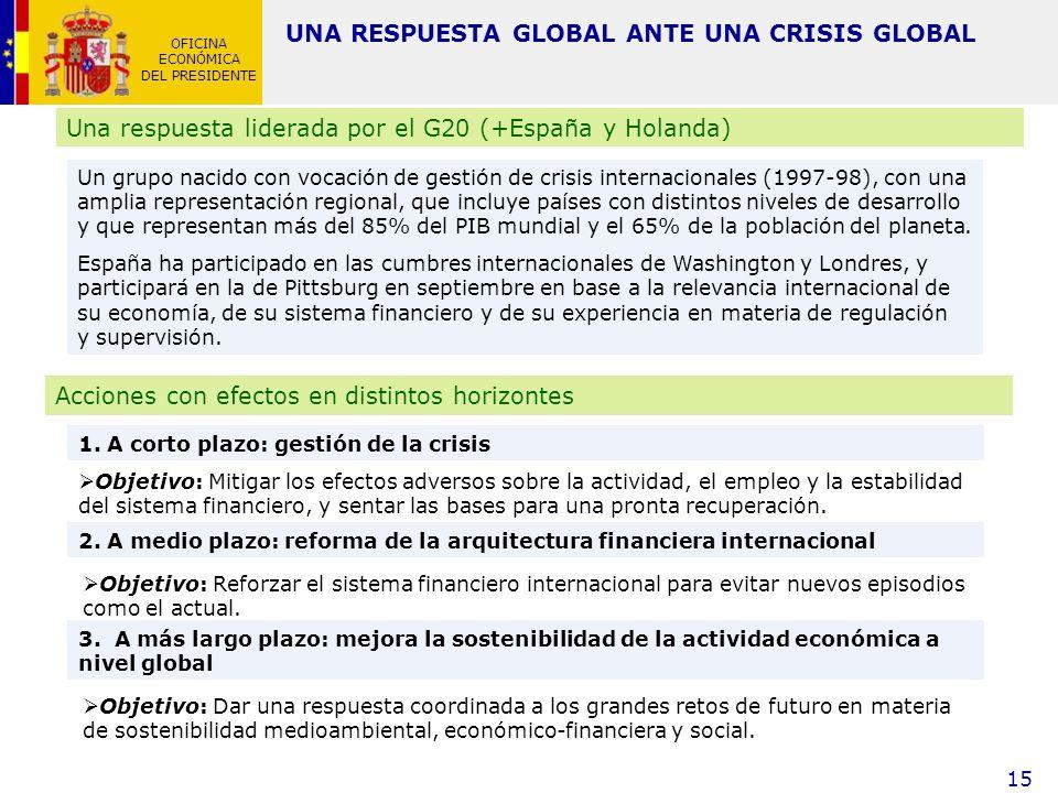 OFICINA ECONÓMICA DEL PRESIDENTE 15 Un grupo nacido con vocación de gestión de crisis internacionales (1997-98), con una amplia representación regiona
