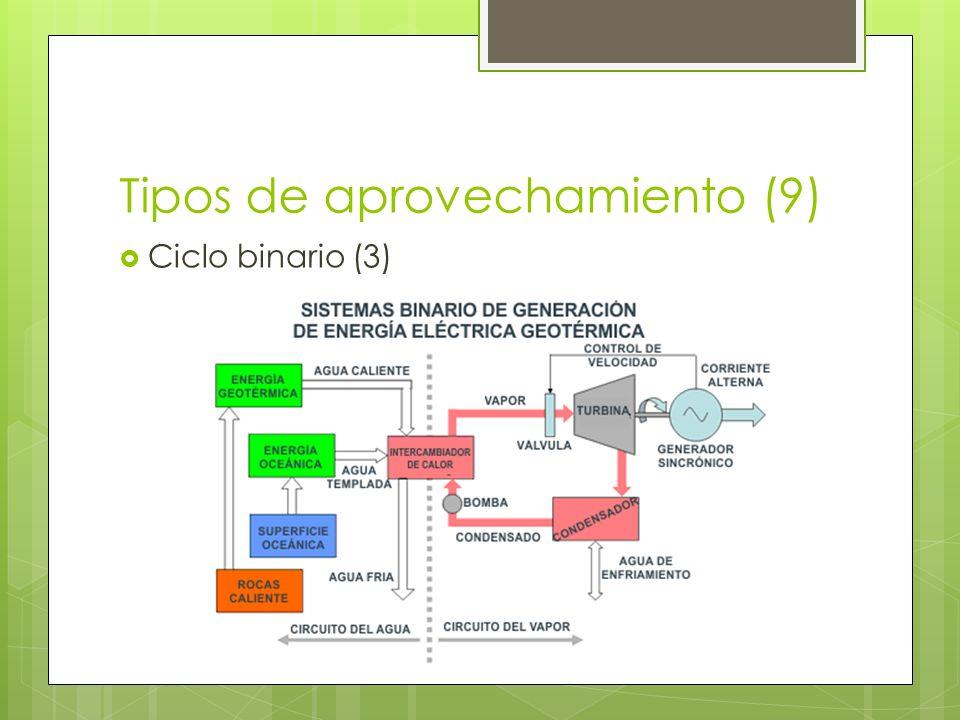 Tipos de aprovechamiento (9) Ciclo binario (3)