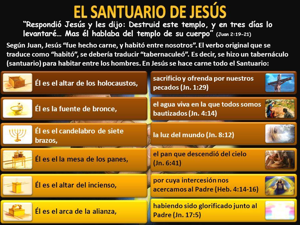 Respondió Jesús y les dijo: Destruid este templo, y en tres días lo levantaré… Mas él hablaba del templo de su cuerpo (Juan 2:19-21) Según Juan, Jesús